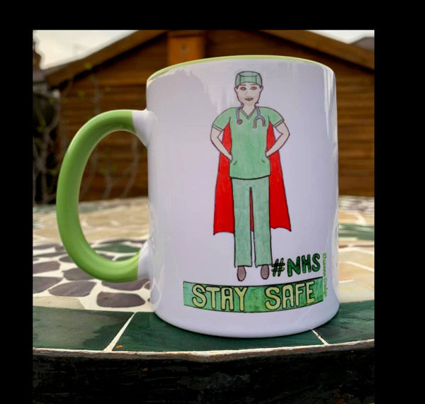 Picture of NHS- Stay Safe Scrubs- CERAMIC MUG