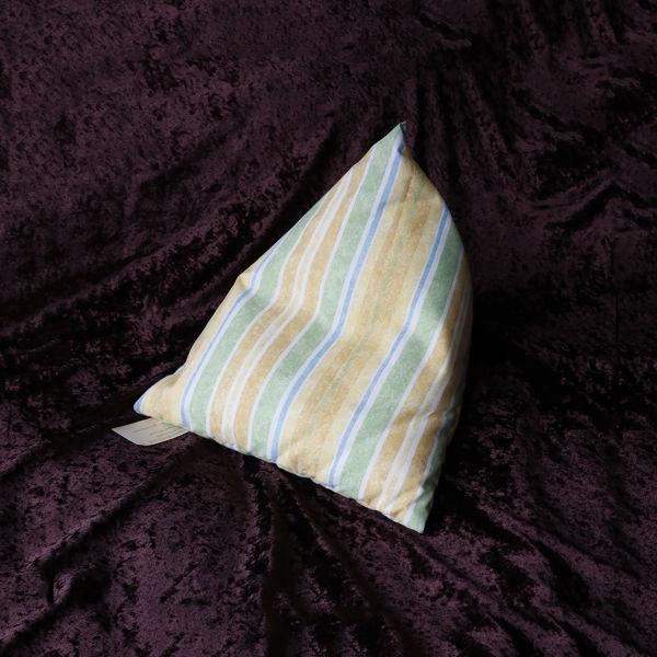 Picture of YELLOW GREEN STRIPES ...iPad/e.Reader/Kindle/Book Cushion Pyramid bean bag -