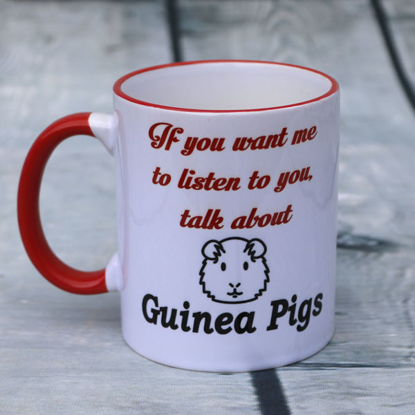 Picture of If you want me to listen to you, talk about Guinea Pigs - CERAMIC MUG