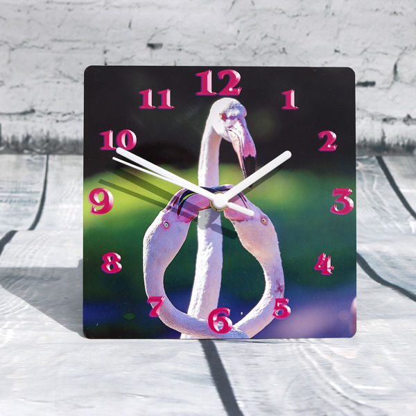 Picture of Pink Flamingo Clock