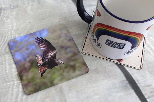 Picture of Red Kite - Aluminium Drinks Coaster