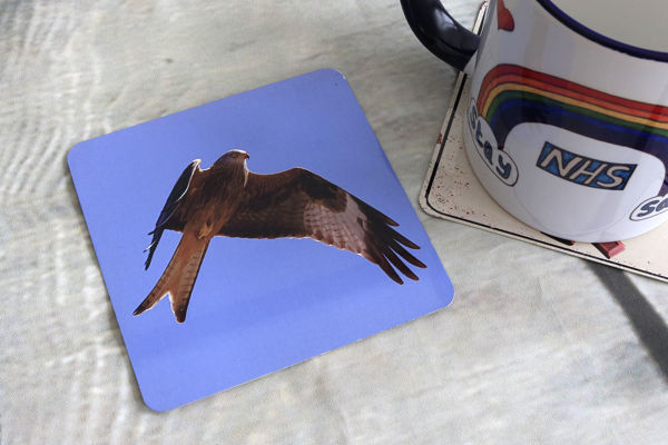 Picture of Red Kite #2 - Aluminium Drinks Coaster