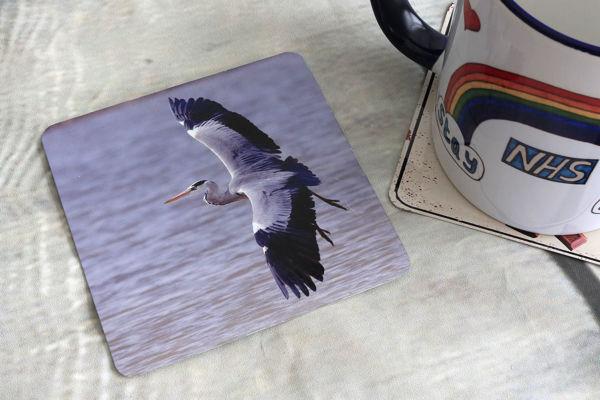Picture of Heron - Aluminium Drinks Coaster