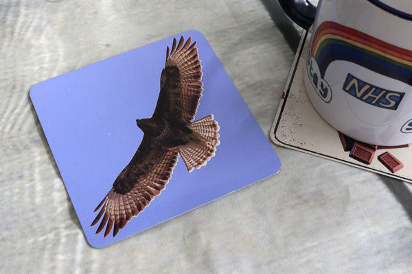Picture of Buzzard #2 - Aluminium Drinks Coaster