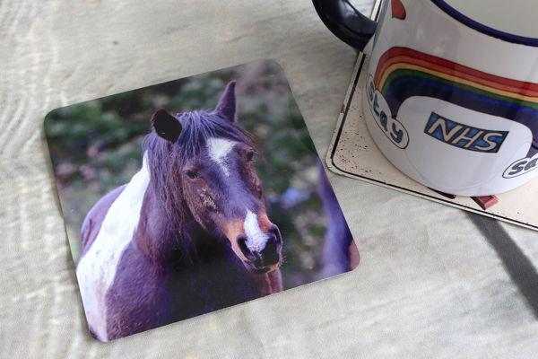 Picture of Horse #2 - Aluminium Drinks Coaster