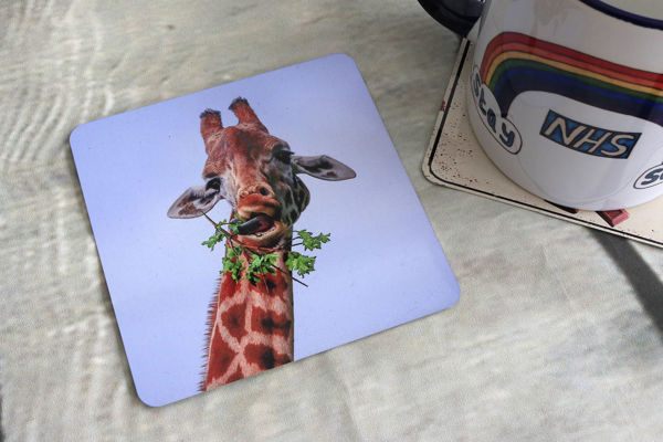 Picture of Giraffe #1 - Aluminium Drinks Coaster