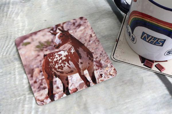 Picture of Goat #3 - Aluminium Drinks Coaster