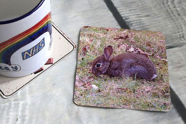 Picture of Rabbit - Aluminium Drinks Coaster