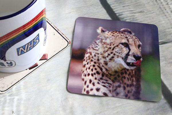 Picture of Cheetah #1 - Aluminium Drinks Coaster