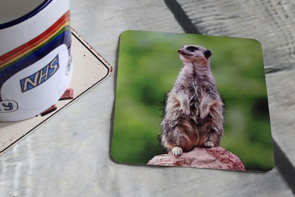 Picture of Meerkat #1- Aluminium Drinks Coaster